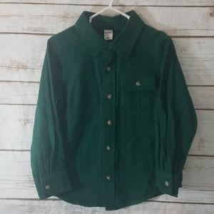 New Green Old Navy Button Down Size 4T